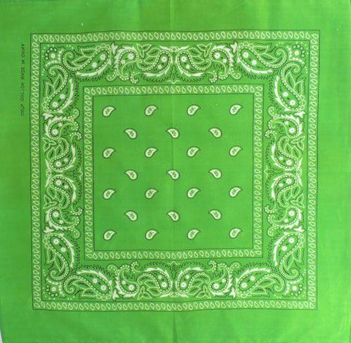Бандана огурцы в квадрате (зеленая)